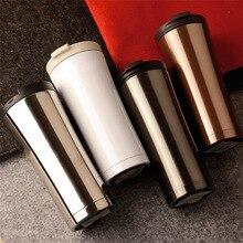 Neue ankunft Business Auto flasche Edelstahl Vakuum-thermoskanne Tasse flasche Für männlich-weibliche Becher Tasse Kaffee Tee milch Tasse geschenk