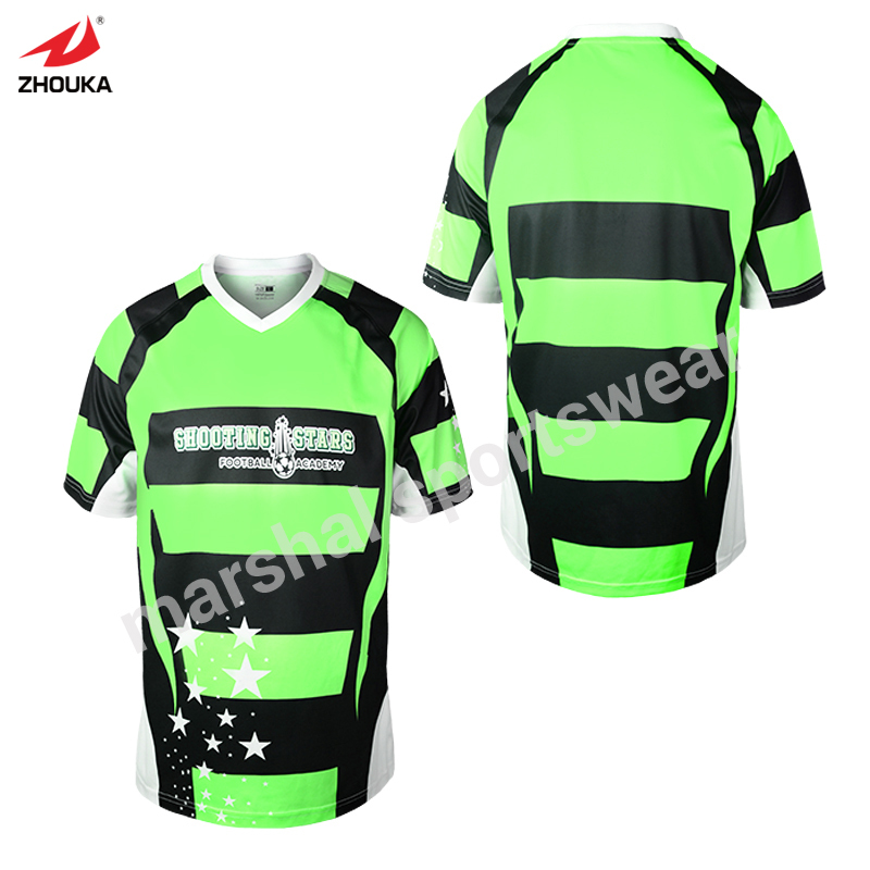 lastest design polyester dry-fit OEM soccer jersey any color stripes design purple free shipping full sublimation print