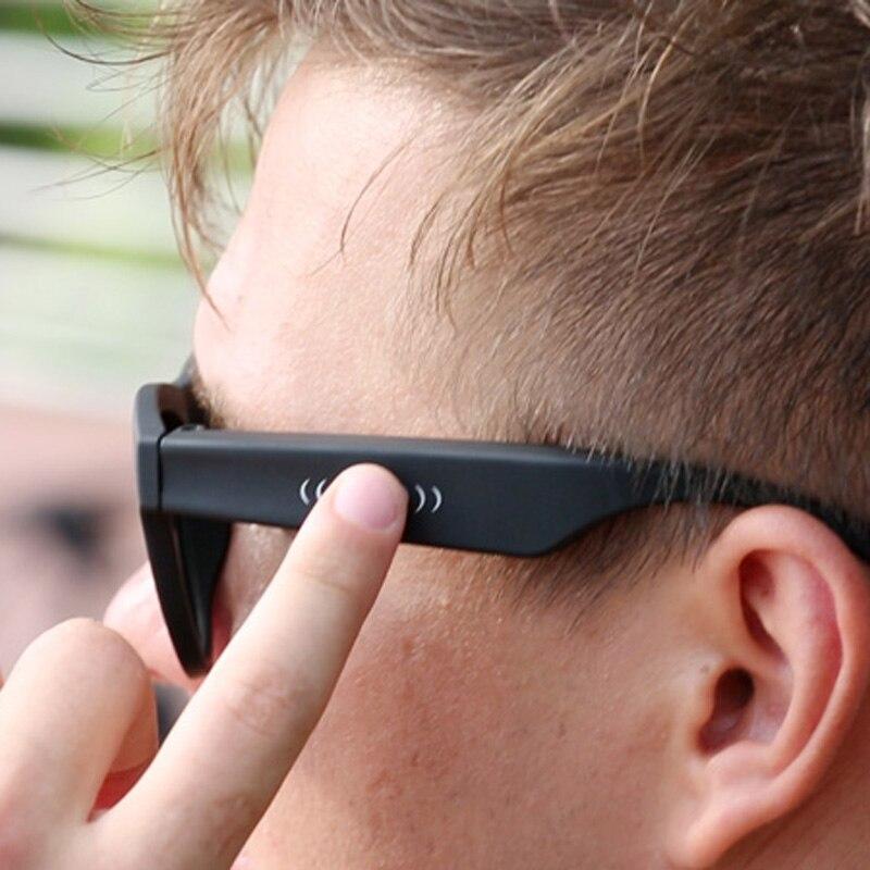 BGreen Conduction Osseuse Bluetooth Smart Musique Lunettes De Soleil Casque casque sans fil de sport écouteurs de sport casque stéréo - 4