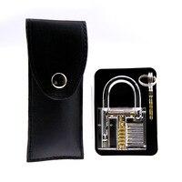15 pçs ferramentas de serralheiro goso clássico conjunto com saco e bloqueio transparente cutaway dentro vista cadeado quebrado chave ferramenta