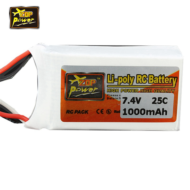все цены на 2017 Rechargeable ZOP Power 7.4V 1000mAh 2S 25C Lipo Battery JST Plug Connector for RC Drone FPV Quadcopter DIY Toys Spare Parts онлайн