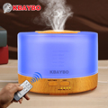 500 ml Humidificador Aroma Difusor De Aceites Esenciales con 4 Ajustes del Temporizador de Control Remoto 7 Que Cambia de Color LED de la lámpara