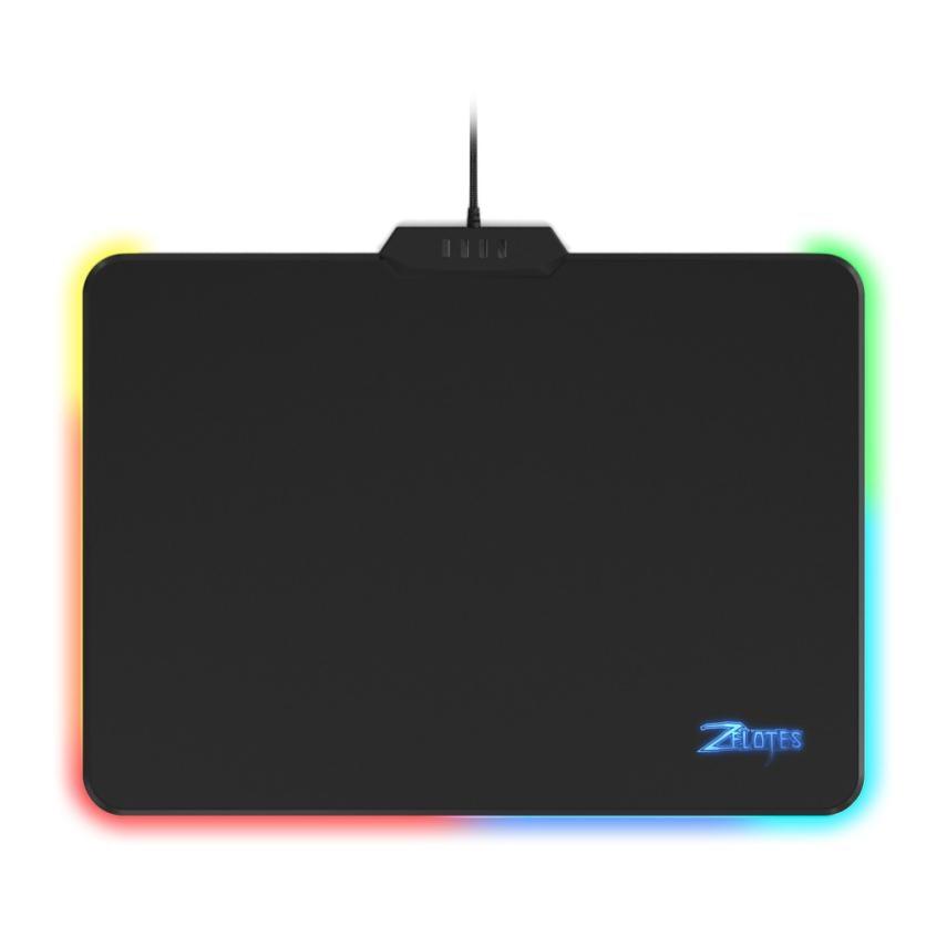 Zelotes P-17 USB RGB LED Gaming Mouse Mat Pad Anti-Slip Lighting Pad for Macbook Laptop PC 18May25 Drop Ship F