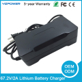 67.2V Lithium Battery Charger Max 2A Output Current for 16x3.6V 16X3.7V Li-on Battery Use