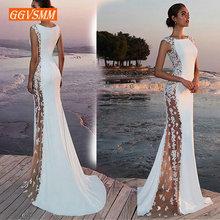 Fashion Ivory Mermaid long Evening Dresses Women 2019 Evenin