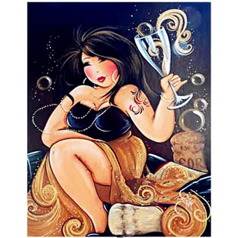 Diamantové výšivky 5D DIY Diamantové malby Kreslené Sexy ženy Diamantové malby Cross Stitch Rhinestone Home DecorationTF24