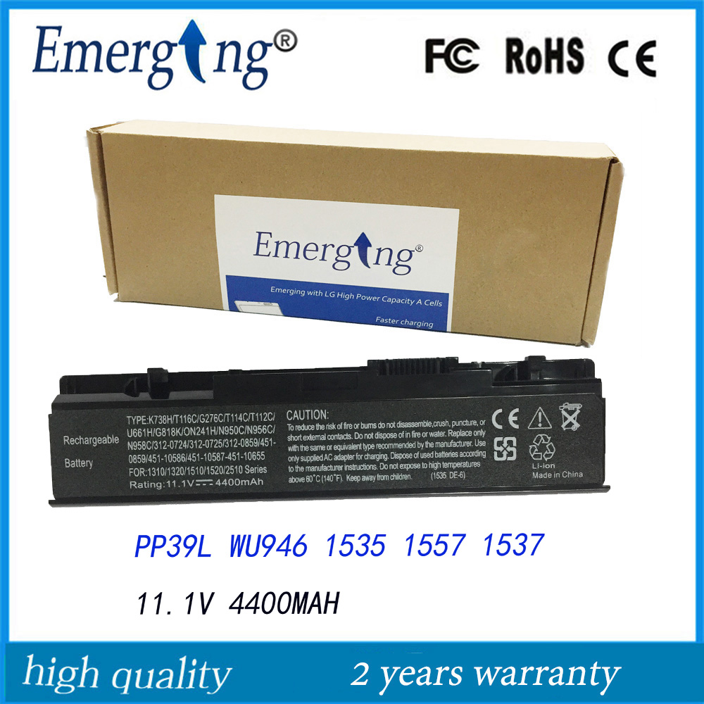 11.1V 4400mah New Laptop Battery for <font><b>Dell</b></font> <font><b>Studio</b></font> <font><b>1535</b></font> 1536 1537 1555 1557 1558 WU946 KM958 0KM887 image