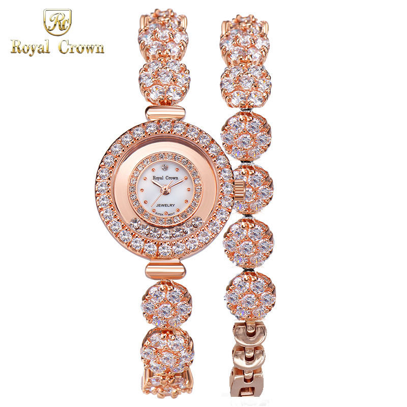 Prong Setting Women's Watch Royal Crown Shell Hours Clock Fine Fashion Dress Jewelry Twining Bracelet Luxury Crystal Girl Gift prong setting women s watch japan quartz shell hours clock fine fashion dress jewelry twining bracelet luxury crystal girl gift