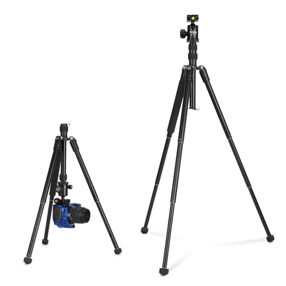 150cm 62 1 2kg Aluminum Professional Travel Camera Tripod Monopod Portable Flexible for DSLR Camera