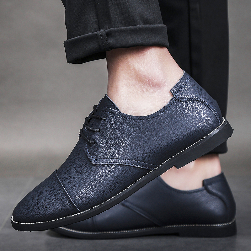 New Spring Fashion Oxford Business Men Shoes Genuine Leather High Quality Soft Casual Breathable Handmade Men 39 s Flats Shoes Aux3 in Men 39 s Casual Shoes from Shoes
