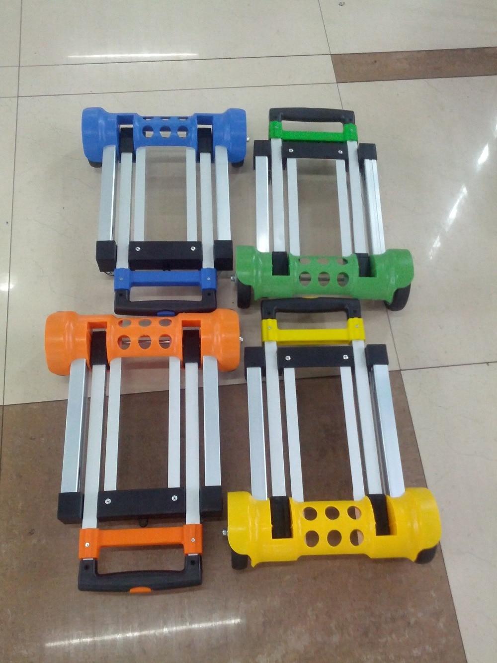 Light folding carts aluminum alloy handle carts Folding Portable hand trolley Luggage Trailer Supermarket Shopping Trolley