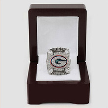 Wholesale 2010 Green Bay Packers Replica Super Bowl Copper High Quality silver world Championship Ring with Gorgeous Wooden Box