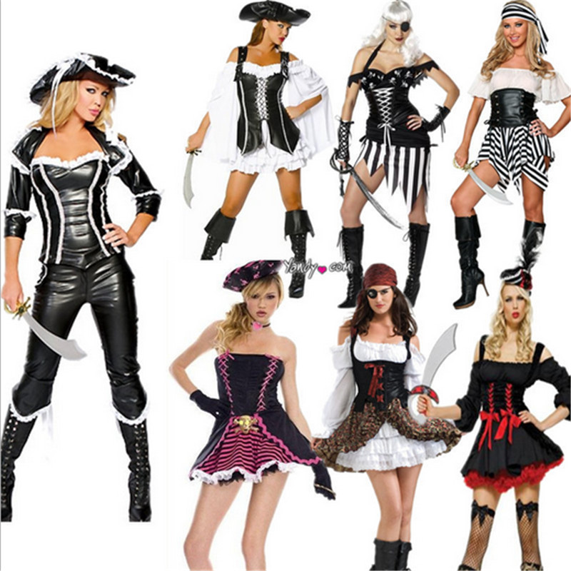 Women's Costumes Sexy Costumes Halloween Party Womens Pirate Costume Adults High-quality Pirate Halloween Carnival Fancy Dress Outfit Costumes Orders Are Welcome.