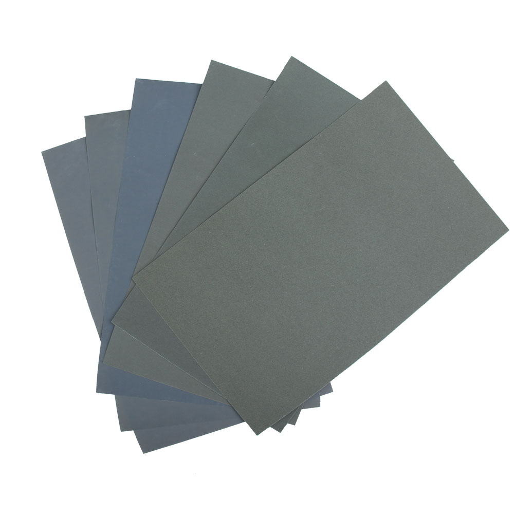 Hotsale 6Pcs Waterproof Abrasive Paper Sand Paper (P600 & 1000 &1200 &1500 &2000 & 2500 ) 6 types together