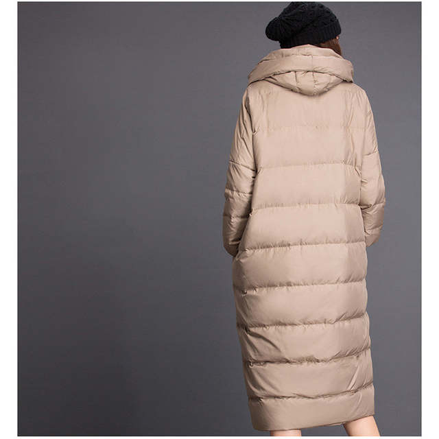 81d316e03 US $197.6 |OMLESA Cocoon Duck Down Jackets Women Brand 2017 New Fashion X  Long Puffer Coat Luxury Thicken Loose Down Parka Female 4XL YQ277-in Down  ...