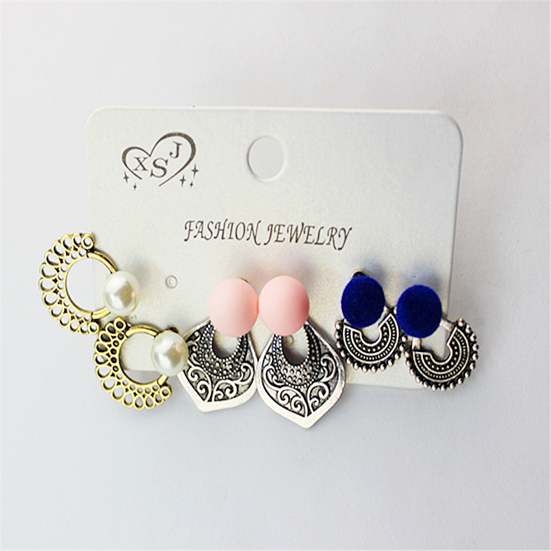 The New Variety Of Women's Fashion Jewelry Wholesale Girl Dismountable Birthday Party Stud Earrings Earrings Gift Free Shipping.
