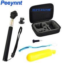 Peeynnt для GoPro Интимные аксессуары комплект селфи монопод для Go Pro Hero 6 5 4 3 2 сумка для хранения для Xiaomi Yi 4 К EKEN H9 h9r SJCAM SJ4000