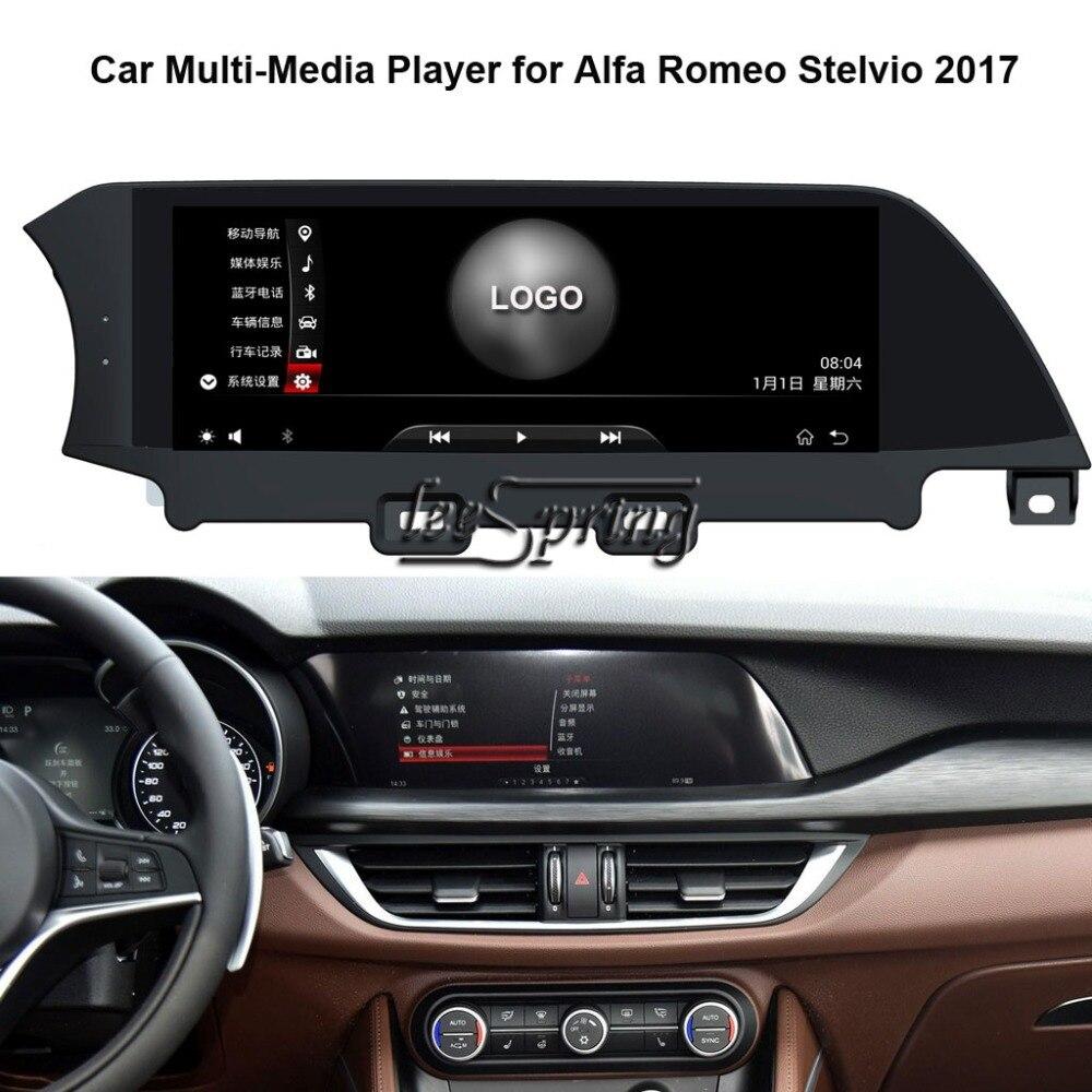 Lecteur multimédia de voiture 10.25 pouces pour Alfa Romeo Stelvio 2017 avec Navigation GPS MP5 Wifi (pas de DVD)