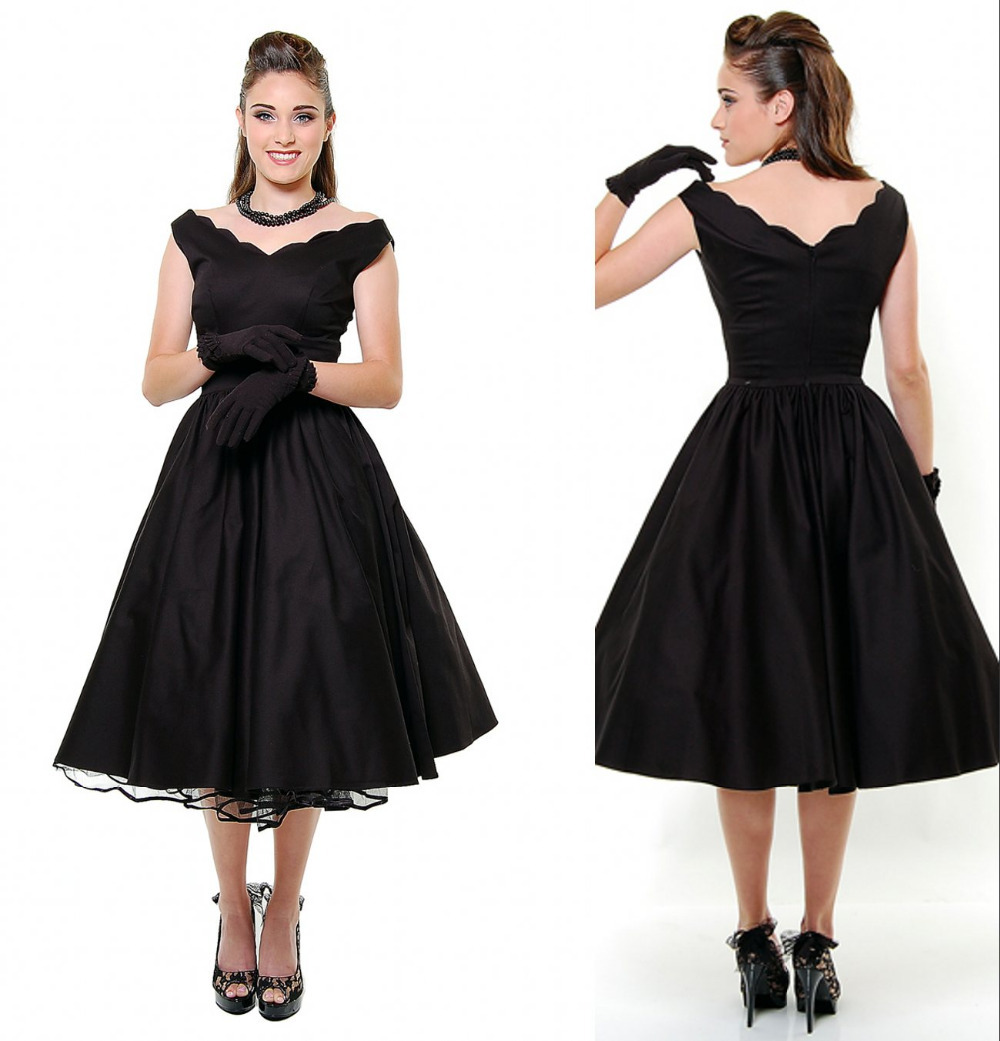 New Year 2015 Unique Vintage 1950s Style Black First Date ...