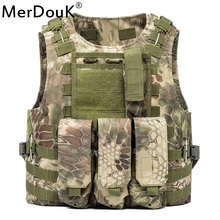 Unloading Vest Tactical Molle Air soft Protection Plates Colette Soldier Combat Vest Army Military Three clip vests