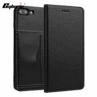 CYBORIS Luxury Business Top Genuine Leather Flip Case For IPhone7 8plus Ultra Slim Capa For Apple