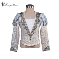 gold boy's ballet top ballet jacket for Man dance costumesmen's ballet top for competiton,ballet coat BM0003B