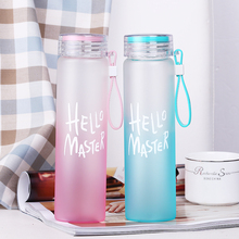 ONE IS ALL 450ML High Borosilicate Glass Water Bottle With Rope Sports Water Bottle Gift Colorfuly Hiking Bottle Eco-friendly