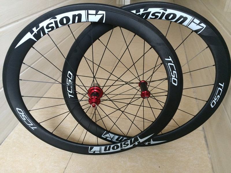3K UD/ Glossy 50mm Carbon Clincher Wheelset Road Bike Carbon Wheels 50mm Clincher 23mm Width Bicycle Wheels 700C carbon bike 700c carbon bicycle wheels 38mm clincher u sharp rims 23mm 25mm width carbon road bike wheelset