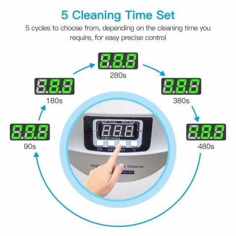 Digital Ultrasonic Cleaner  Baskets Jewelry Watches Dental 2.5L 60W 40kHz Heating Ultrasound Ultrasonic Vegetable Cleaner Bath Multan