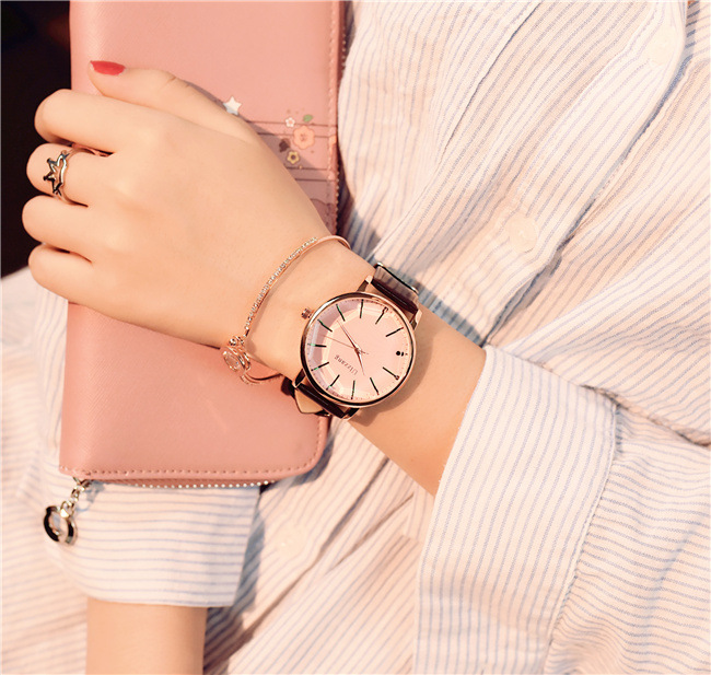 Polygonal dial design women watches luxury fashion dress quartz watch ulzzang popular brand white ladies leather wristwatch 14