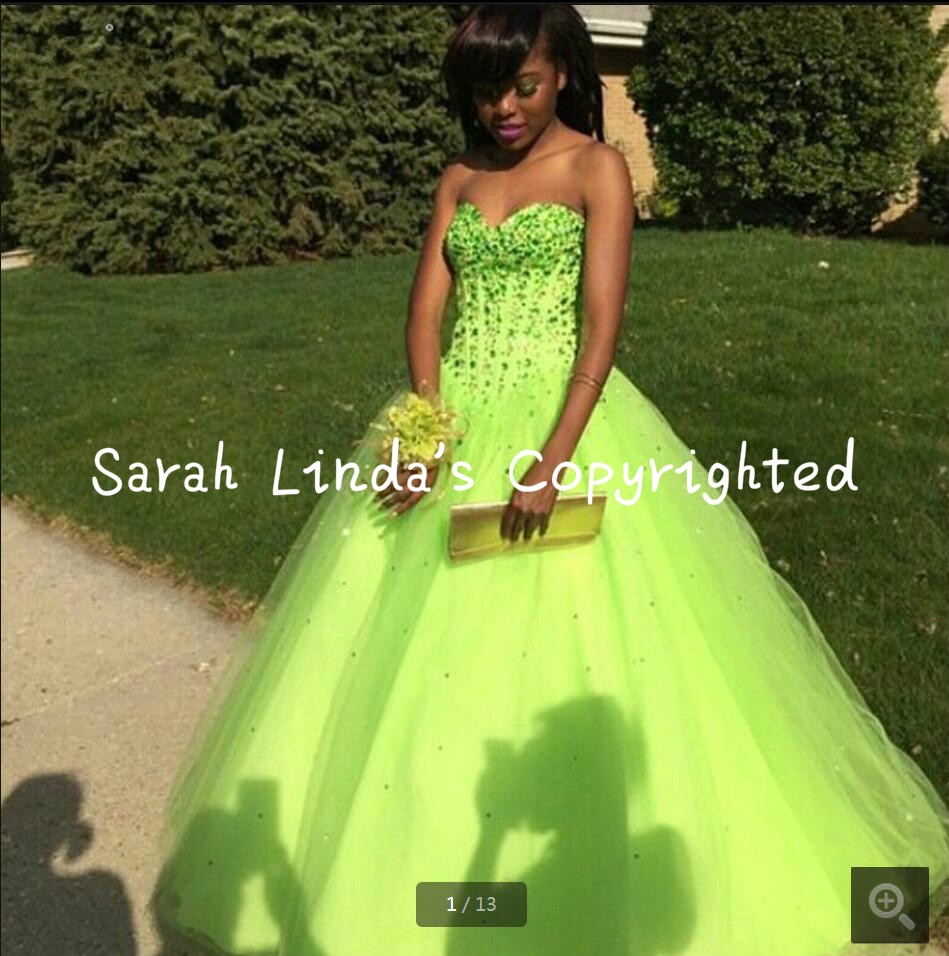 Neon Green Prom Dresses | Dress images