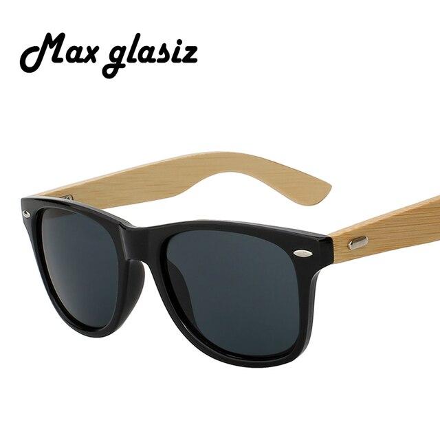 6ecdf4ba0ac89 Óculos de Sol De bambu Novo 2017 Homens Mulheres Óculos de Sol De Madeira  Óculos De