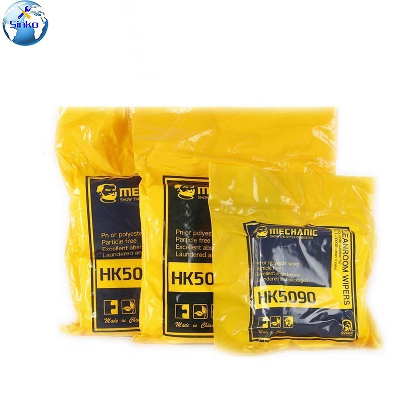 HK5090 High-Quality Touch Screen Cleanroom Wiper Microfiber Anti Static Non Dust Cloth for Mobile Phone Pad Tablet Camera Screen