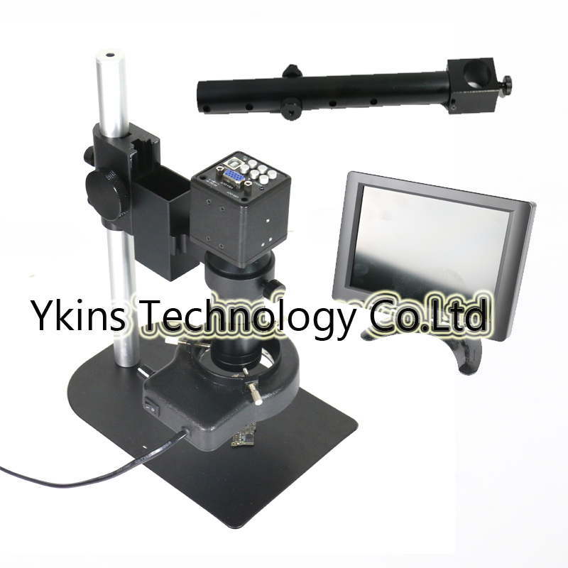 2.0MP HD 2 in1 USB VGA Industrial Digital Microscope Camera + 8 LCD Monitor + Stand Holder + C-Mount Lens + 56 LED Ring Right2.0MP HD 2 in1 USB VGA Industrial Digital Microscope Camera + 8 LCD Monitor + Stand Holder + C-Mount Lens + 56 LED Ring Right