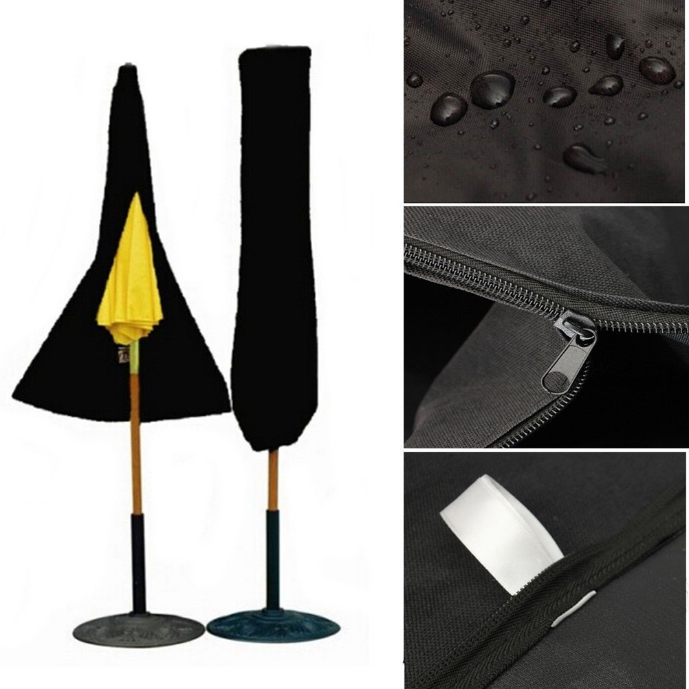 Patio Outdoor Yard Garden Umbrella Parasol Cover Zipper Waterproof Cover  Dustproofed Cover Furniture Cover(China