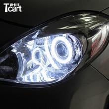 """Tcart авто светодиодный светильник """"ангельские глазки"""", дневной ходовой светильник, галогенное кольцо, лампа для вождения автомобиля, проектор, противотуманная лампа для Nissan Patrol tiida juke"""