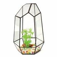 NEW 13x13x19cm Irregular Glass Geometric Terrarium Box Tabletop Succulent Plant Planter Flower Pot Glass Vase Great
