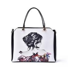 Sac A Main Femme De Marque Luxe Cuir 2016 Famous Brand Designer Shoulder Bag Luxury Printing Tote Women Fashion Leather Handbags