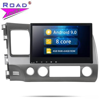 Head Unit Android 9.0 Car Multimedia Autoradio Player For Honda Civic 2006-2011 Stereo GPS Navigation Magnitola 2 Din NO DVD MP3 image