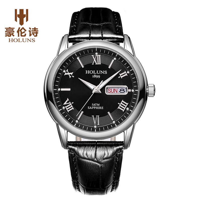 Holuns mens watches top brand luxury fashion casual classic gold male watch leather stainless waterproof wristwatch for men fashion dali brand leather leather watch luxury classic a6