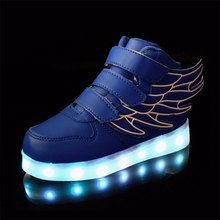 EUR 25-37 Taille USB De Charge Enfants Shoes Avec La Lumière Led Enfants Shoes Avec Baskets Lumineuses Lumineux Shoes Enfants Casual Garçons et Filles