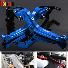 Set For BMW F800ST 2006-2015 2010 2012 2014 Up with logo Motorcycle Folding Extendable Motorbike Brake Clutch Levers 7 Colors