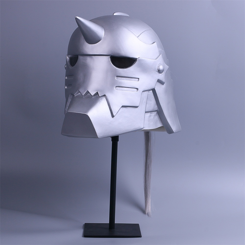 2017 Fullmetal Alchemist Mask Cosplay Alphonse Elric Helmet Halloween Mask PVC (3)