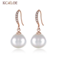 Rose Natural Pearl Earrings For Women Fashion Korean Version Of The New Oval Pearl Earrings The