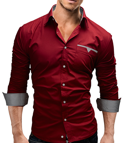 2017 Autumn New Fashion Camisa Brand Clothing Men Shirt Casual Long Sleeved Chemise Homme Slim Camisas Hombre