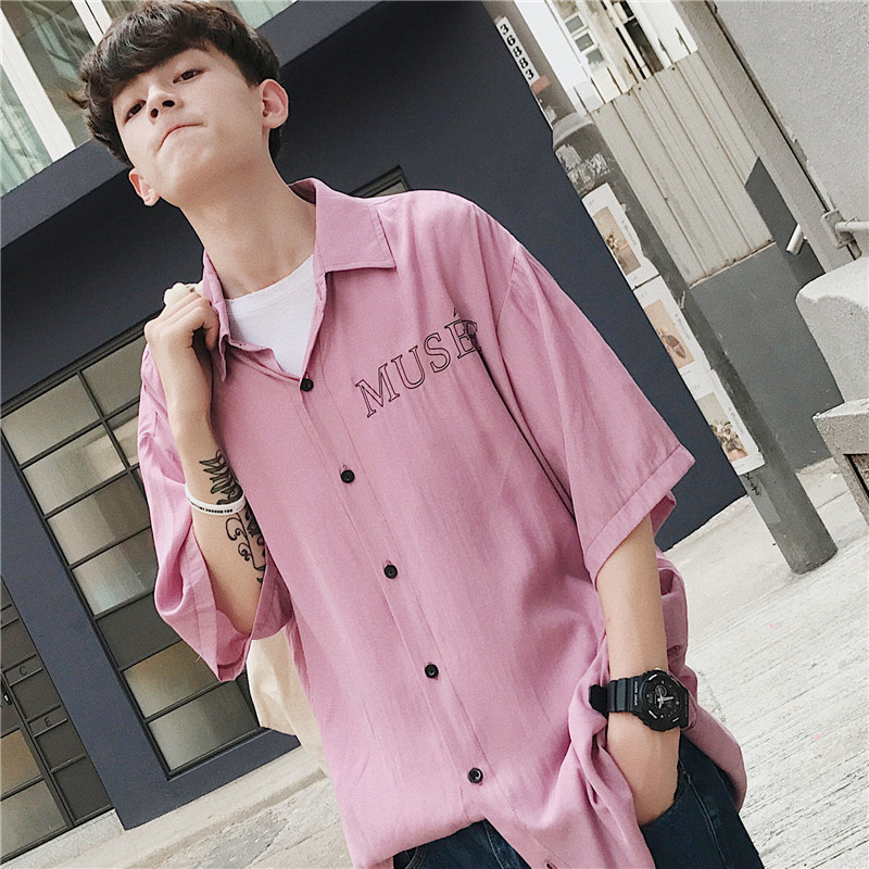 2018 Summer Wear New Pattern Printing Shirt personality city boy casual letter wild fashion trend Favourite Hot Free shipping