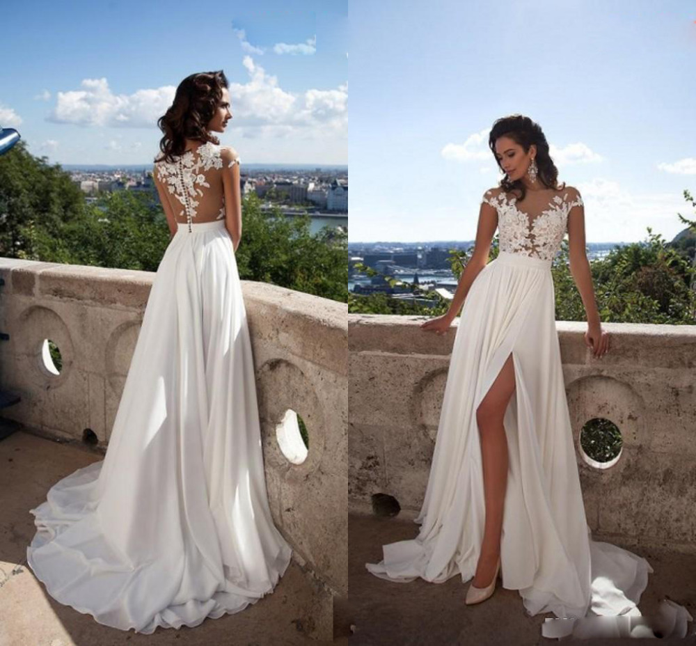 Buy white ivory beach wedding dresses for Where to buy yasmine yeya wedding dresses