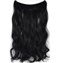 "TOPREETY Heat Resistant B5 Synthetic Fiber 22"" 55cm 100gr Wavy Elasticity Wire Halo Hair Extensions 30 Colors Available(China)"