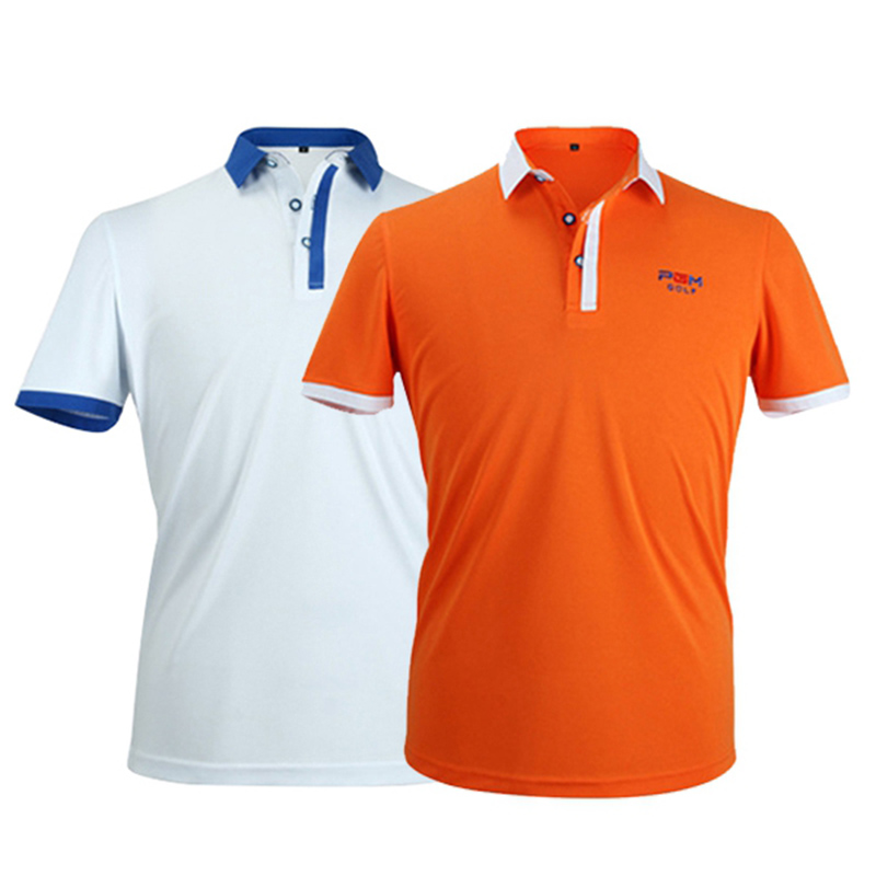 PGM Outdoor Polo T Shirt Golf Shirt Men Quick Dry T-shirts Turn Down Collar Short Sleeve Golf Shirts Sport Clothing