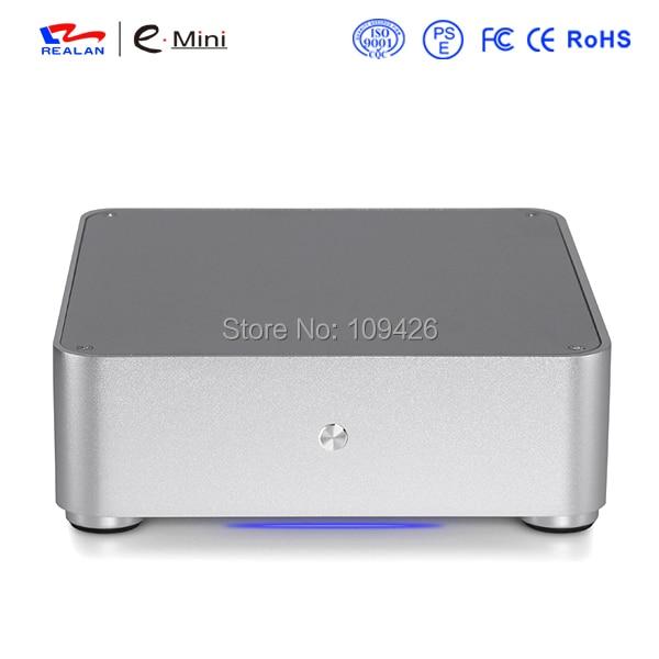 Realan Gabinete PC case for mini ITX motherboard realan pc case itx all aluminum case mini itx